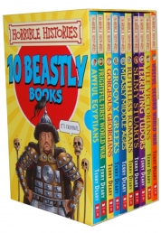 Horrible Histories Books Collection 10 Beastly Books Box Set by Terry Deary