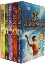 Percy Jackson Collection 5 Books Set by Rick Riordan Lighting Thief New by Rick Riordan