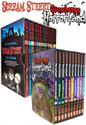 Goosebumps HorrorLand Series & Scream Street 23 Books Box Gift Set Collection by R.L.Stine & Tommy Dondavand