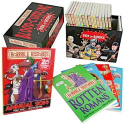 Horrible Histories 20 Books Box and 2014 Annual Collection Set by Terry Deary