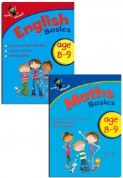 Leap ahead Maths and English Basics ages 8-9, 2 set book collection, easy by Paul Broadbent, Peter Patilla and Louis Fidge