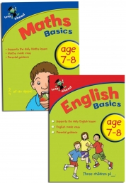 Leap ahead Maths and English Basics ages 7-8, 2 Book Set Collection by Paul Broadbent, Peter Patilla and Louis Fidge