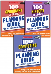 Planning Guide 100 Lessons 2014 Curriculum For Year 1-6 Collection 3 Books Set (History, Geography, Computing) by Scholastic