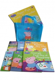 Peppa Pig Books Collection 10 Books Set in a Bag Children Picture Flat Gift Set by Ladybird Books