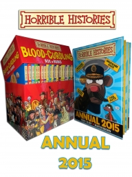 Blood Curdling Horrible Histories 20 Books Box Set 2015 Annual Book Collection by Terry Deary