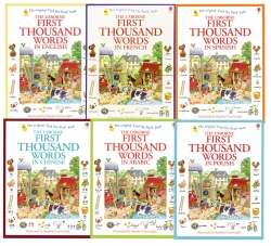 Usborne My First Thousand Words 6 Books Collection Photo