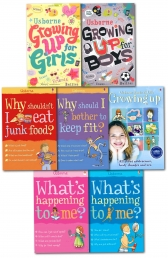 Usborne What Happening to Me & Growing Up 7 Books Collection Set for Boys & Girl by Usborne