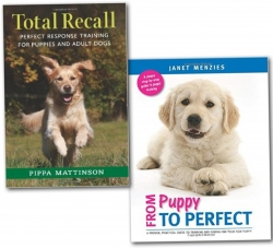 Dog & Puppy Training 2 Books Collection Set (Caring, Behaviour, Grooming,Tips and Techquines) by Pippa Mattinson, Janet Menzies