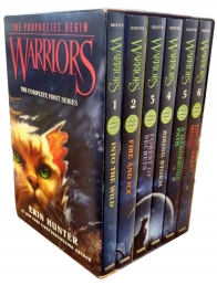 Warriors The Prophecies Begin Complete First Series Collection 6 Books Box Set (Volumes 1 to 6) by Erin hunter