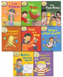 Read With Biff, Chip and Kipper Phonics Starter Collection 8 Books Set (L1-2) by Roderick Hunt and Alex Brychta