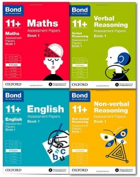 Bond 11 plus Assessment Papers English Maths Verbal and Non Verbal 9-10 4 Books Collection Set Pack by Alison Primrose