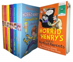 Horrid Henry Collection 19 Titles in 7 Books Set by Francesca Simon