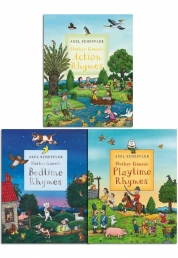 Mother Gooses Nursery Rhymes 3 Books Collection by Axel Scheffler