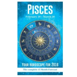 Your Horoscope 2016 Book, 15 Month Forecast, Zodiac Sign, Future Reading, Tarot Pisces by Igloo Books