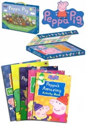 Peppa Pig Collection Activity & Sticker Childern Story 10 Books Carry Case Gift by Ladybird
