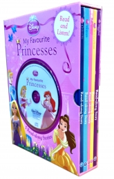 Disney Princess My Favourite Princesses - (Read along Story for Tangled, Sleeping Beauty, Cinderella, The Little Mermaid, Beauty and the Beast) by Disney