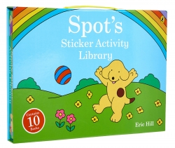 Spot's Sticker Activity Library Children Collection 10 Books Carry Case Gift Set by Eric Hill