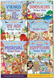 Sticker History Children Sticker Books Collection 6 Books Set by Joshua George (Author), Ed Myer (Illustrator)