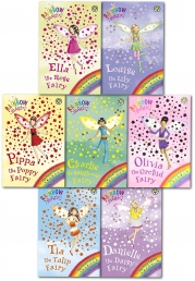 Rainbow Magic Series 7 Petal Fairies Collection 7 Books Pack Set Books 43 to 49 by Daisy Meadows