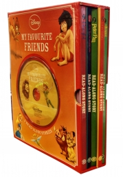 Disney Favourite Friends 5 Books Box Set with CD Photo