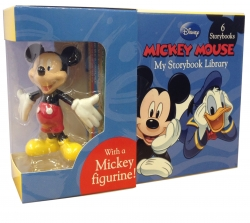 Disney Mickey My Storybook Library 6 Books With Mickey Toy (Mickey Collectible) by Disney