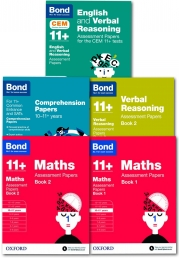 Bond 11+ plus Assessment Papers English Maths Verbal Reasoning Comprehension 10-11 Year Pack of 5 Photo
