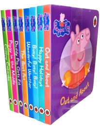 Peppa Pig Childrens Picture Flat 8 Board Books Collection Set by Ladybird