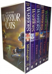 Warriors Cats Series 2 The New Prophecy by Erin Hunter 6 Books Set Midnight, Moonrise, Dawn, Starlight, Twilight, Sunset by Erin Hunter