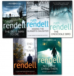 Ruth Rendell Inspector Wexford Collection Series 5 Books Set - End in Tears, No More Dying then, Kissing the Gunners Daughter, The Crocodile Bird, The Photo