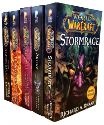 Warcraft - World Of Warcraft - 5 Book Collection Set - The Shattering, Thrall Twilight of the Aspects, Arthas Rise of the Lich King, Stormrage, Voljin Photo