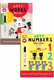 Wipe Clean Early Learning 2 Book Collection Set With Marker Pen in a Ziplock Bag by Mandy Stanley