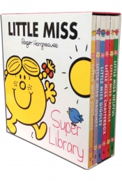 Little Miss Super Library 6 Book Set Collection by Roger Hargreaves