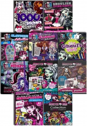 Monster High Activity 10 Books Collection Set in Ziplock Bag Stickers, Dressing, Fashion, Colouring by Disney