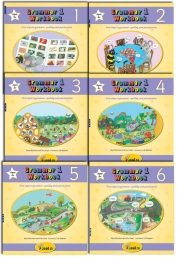 Jolly Phonics Grammar Workbook Collection 6 Books Set Pack (1-6) by Sara Wernham