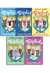 Holly Webb Triplets Children Collection 5 Books Set by Holly Webb
