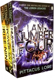 Pittacus Lore Lorien Legacies Series 3 Books Collection Set (I Am Number Four, The Power Of Six, The Rise Of Nine) by Pittacus Lore