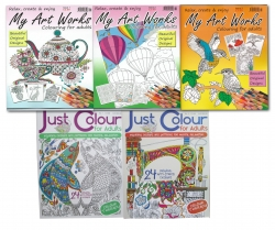 Relax With Art Adult Colouring Book Collection 5 Books Set by Bargain books