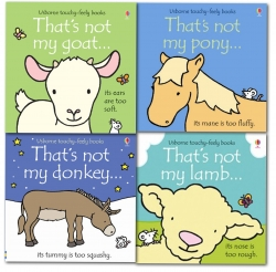 Farm Animals Collection Usborne Touchy-Feely 4 Books Set  (Thats Not My Lamb, Thats Not My Pony, Thats Not My Goat, Thats Not My donkey) by Fiona Watt