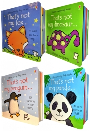 Toddlers Animals Collection Usborne Touchy-Feely 4 Books Set Photo
