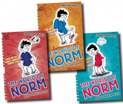 The World of Norm Collection Jonathan Meres 3 Books Set (May Contains nuts, May Cause Irritation, May Produce Gas) by Jonathan Meres