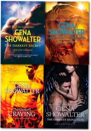The Darkest Collection Gena Showalter 4 Books Set Lords of the Underworld series by Gena Showalter