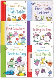 Wipe Clean Learn To Write 6 Books Collection Set With Marker Pen Photo