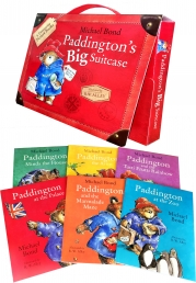 Paddingtons Big Suitcase 6 Picture Books Collection Set by Michael Bond Photo