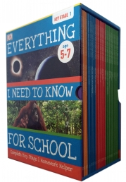Everything I Need to Know for School: Complete Keystage 1 Box Set - 30 Books Collection Set by DK