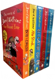 David Walliams Series 1 - Best Boxset Ever 5 Books Collection Set (Billionaire Boy, Mr Stink, The Boy in the Dress, Gansta Granny, Rat burger) by David Walliams