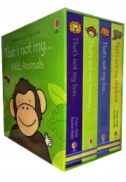 Wild Animals Collection Usborne Thats Not My 4 Books Box Set by Fiona Watt