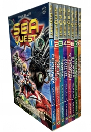 Sea Quest Series 1 and 2 Collection Adam Blade 8 Books Set Photo