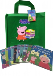 Peppa Pig Collection 10 Books Set In a Bag (Green Bag) Photo