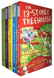 The 13-Storey Treehouse Collection Andy Griffiths and Terry Denton 5 Books Set by Andy Griffiths and Terry Denton