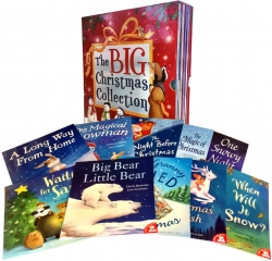 The Big Christmas Collection 10 Books Box Gift Set Children Reading Bedtime Stories Photo
